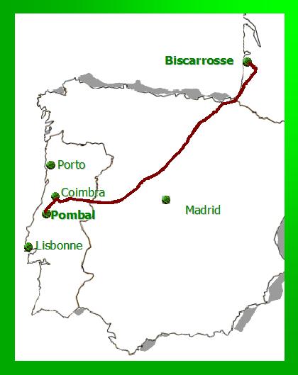 Carte villes route